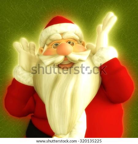 santa dreams - stock photo