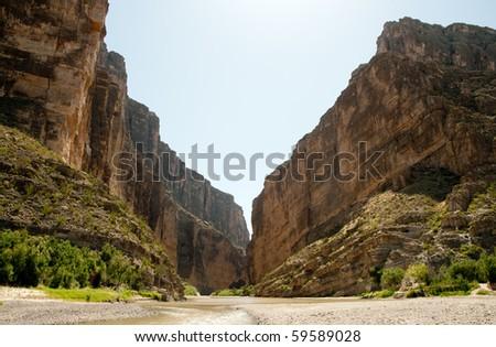 Santa Elena Canyon - stock photo
