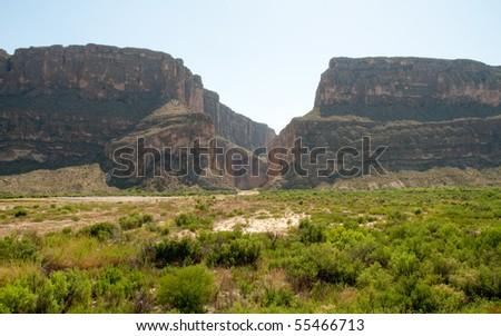 Santa Elena Canyon cliffs - stock photo
