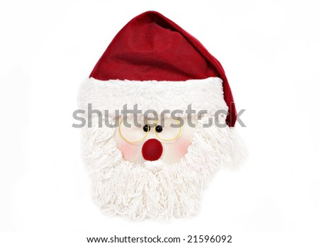 santa face with hat
