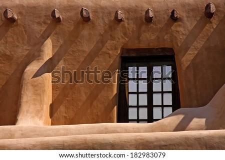 Santa Fe traditional house - stock photo