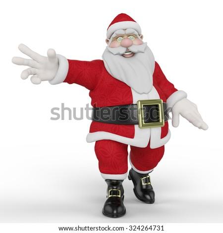 santa happy and free - stock photo