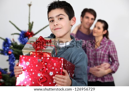 Santa has been kind to me - stock photo