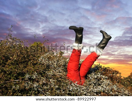 Santa has had one too many! - stock photo
