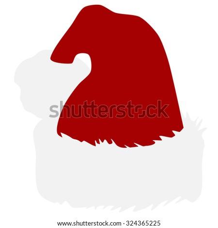 Santa hat, christmas hat, christmas hat isolated, santa hat isolated - stock photo