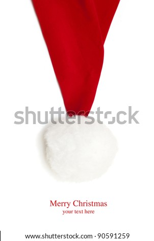 Santa Hat on a white background - stock photo