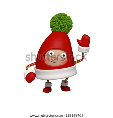 Santa helper - stock photo