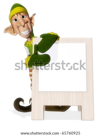 santa helper advertboard 3 - stock photo