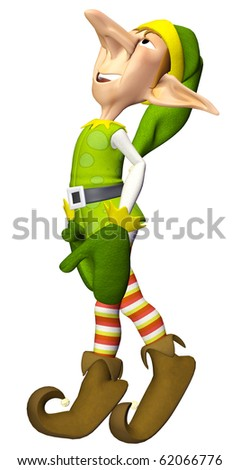 santa helper cartoon dreamer - stock photo