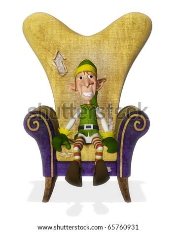 santa helper chair - stock photo