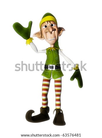santa helper hello - stock photo