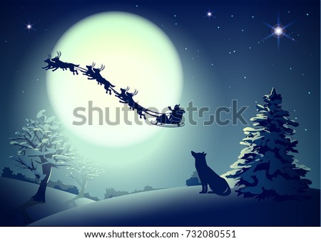 Full Moon Santa Stock Images, Royalty-Free Images & Vectors ...