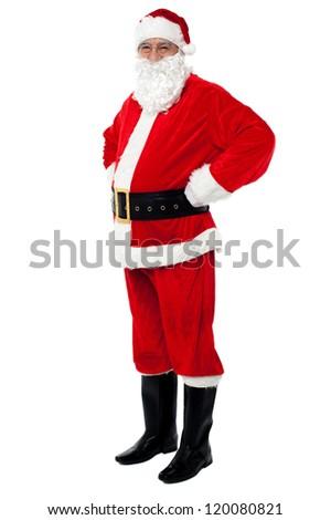 Santa is all set for Xmas celebrations. Festive season concept. - stock photo