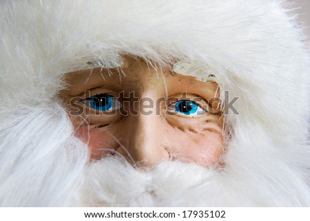Santa!! is it really you? :) - not really, this is a close up of an ornament - stock photo