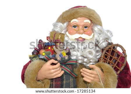 Santa isolated against a white background