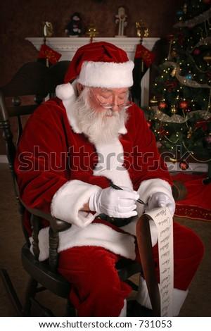 Santa Knows Who's Naughty - stock photo