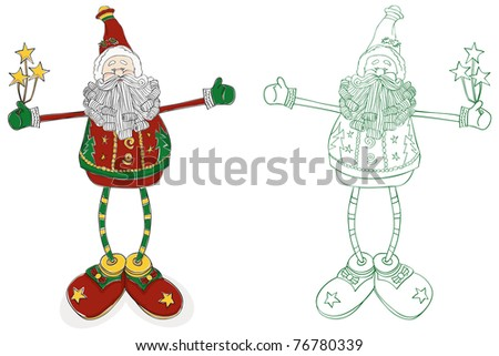 Santa Long Legs - Raster Version - stock photo