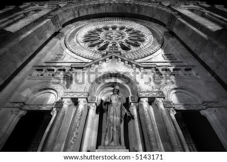 santa luzia basilica facade - stock photo