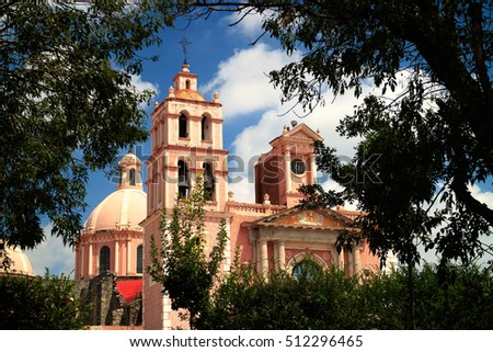 Santa Maria de la Asuncion Church at the Main Plaza of Tequisquiapan