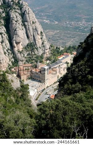 Santa Maria de Montserrat - stock photo