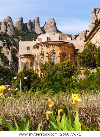 Santa Maria de Montserrat monastery. Barcelona - stock photo