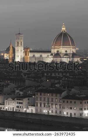 Santa Maria del Fiore cathedral, Florence, Tuscany, Italy - stock photo