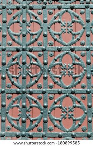 Santa Maria del Mar Cathedral main door detail at Barcelona in Spain - stock photo