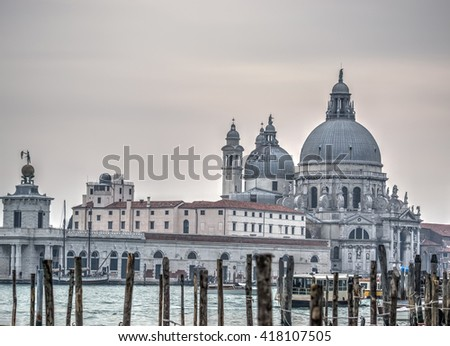 Santa Maria della Salute in Venice, Italy - stock photo
