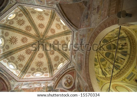 Santa Maria di Bressanoro (Cremona, Lombardy, Italy) - Interior of the ancient church
