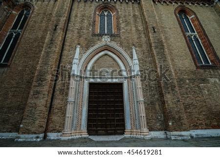 Santa Maria Gloriosa dei Frari at Venice, Italy - stock photo