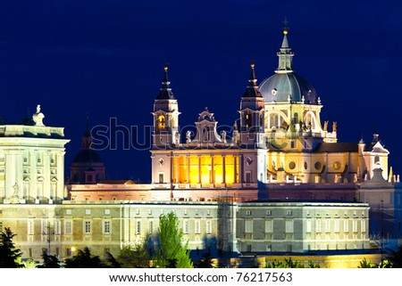 Santa Maria la Real de La Almudena - Cathedral in Madrid, Spain - stock photo