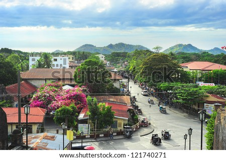 SANTA MARIA, PHILIPPINES - MARCH 24: Philippines urban lanscape on March 24, 2012 in Santa Maria, Philippines. With a population of 92 million, Philippines is the seventh most populated Asian country