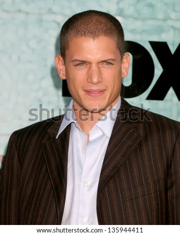 SANTA MONICA - AUGUST 22: Wentworth Miller at Prison Break Series Premiere Party at Santa Monica Airport, Hanger 8 August 22, 2005 in Santa Monica, CA. - stock photo