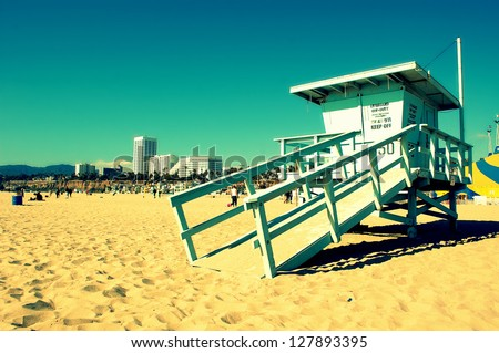 Santa Monica Beach.Summer concept - stock photo
