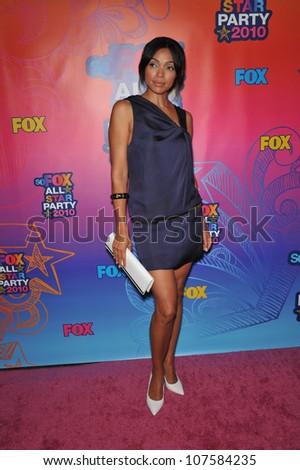 "SANTA MONICA, CA - AUGUST 2, 2010: Tamara Taylor - star of ""Bones"" - at Fox TV's All Star Party at Santa Monica Pier. - stock photo"