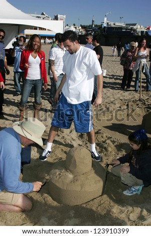 SANTA MONICA, CA - DECEMBER 02: Jordan Farmar at Kohl's Holiday Sandman Building Competition on December 02, 2006 at Santa Monica Beach, Santa Monica, CA. - stock photo