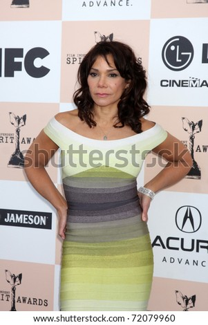 SANTA MONICA, CA - FEB 26:  Daphne Rubin-Vega arrives at the 2011 Film Independent Spirit Awards at the Beach on February 26, 2011 in Santa Monica, CA
