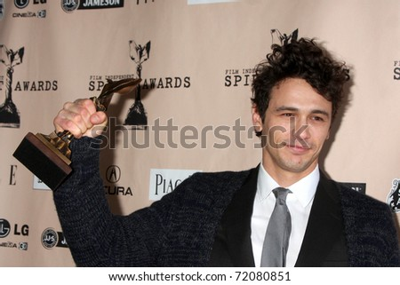 SANTA MONICA, CA - FEB 26:  James Franco in the Press Room of the 2011 Film Independent Spirit Awards at the Beach on February 26, 2011 in Santa Monica, CA - stock photo
