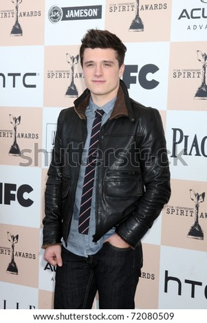 SANTA MONICA, CA - FEB 26:  Josh Hutcherson arrives at the 2011 Film Independent Spirit Awards at the Beach on February 26, 2011 in Santa Monica, CA - stock photo