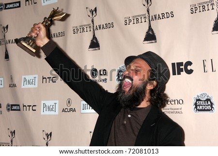 SANTA MONICA, CA - FEB 26:  Thierry Guetta in the Press Room of the 2011 Film Independent Spirit Awards at the Beach on February 26, 2011 in Santa Monica, CA - stock photo
