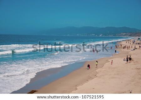 Santa Monica Coast beaches in Los Angeles - stock photo