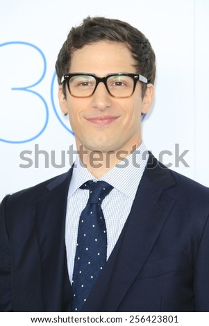 SANTA MONICA - FEB 21: Andy Samberg at the 2015 Film Independent Spirit Awards on February 21, 2015 in Santa Monica, California - stock photo