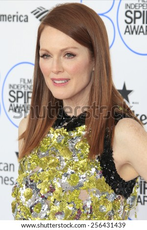 SANTA MONICA - FEB 21: Julianne Moore at the 2015 Film Independent Spirit Awards on February 21, 2015 in Santa Monica, California - stock photo