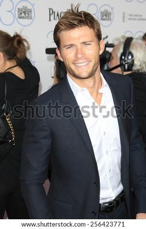 SANTA MONICA - FEB 21: Scott Eastwood at the 2015 Film Independent Spirit Awards on February 21, 2015 in Santa Monica, California - stock photo