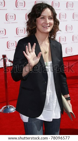 SANTA MONICA - JUNE 8:  Sara Gilbert at the 6th annual TV Land Awards held at the Barker Hanger in Santa Monica, California on June 8, 2008.
