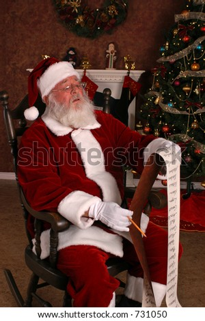 Santa Needs New Glasses - stock photo