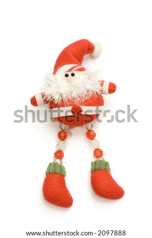 Santa on white background isolated - stock photo