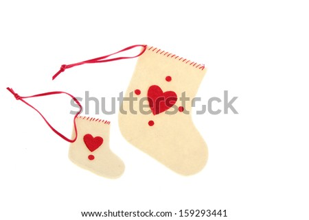 Santa's boot isolated on white background