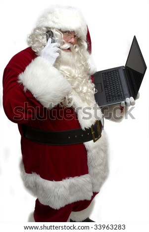 Santa's busiest time of year! - stock photo