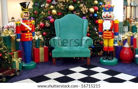 Santa's chair - stock photo